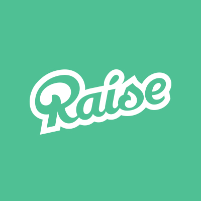 Raise logo on mint background